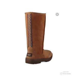 🐏Ugg Tall Boots W/Ribbon Detail
